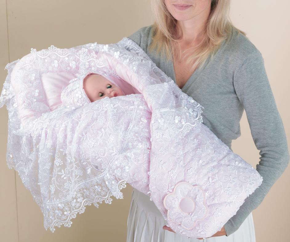 Конверт для новорожденного крючком связано 115